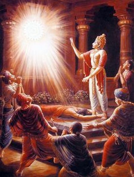 Amabarish asks the Chakra to forgive Durvasa