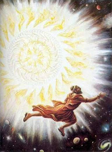 Durvasa trying to escape from Sudarshan Chakra