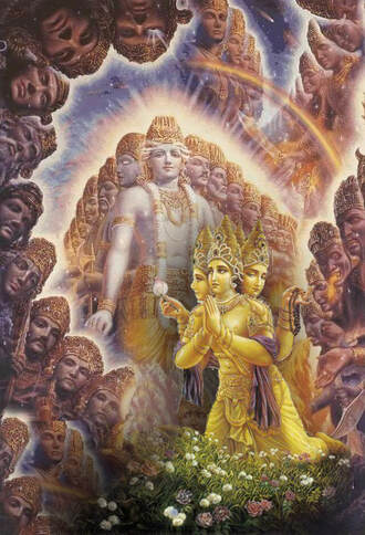 Shri Krishna will all Brahmas